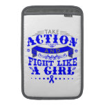 TBI Take Action Fight Like A Girl v2 MacBook Air Sleeves