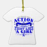 TBI Take Action Fight Like A Girl v2 Christmas Ornament