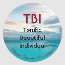 TBI Terrific Beautiful Individual Classic Round Sticker