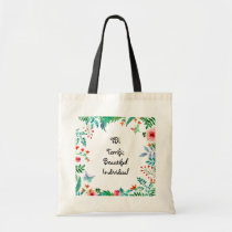 TBI Terrific Beautiful Individual Floral Tote Bag