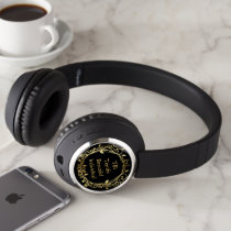 TBI Terrific Beautiful Individual Gold on Black Headphones