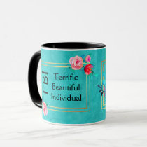 TBI Terrific Beautiful Individual Pink Floral Mug