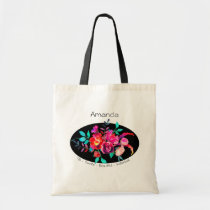 TBI Terrific Beautiful Individual Pink Floral Tote Bag