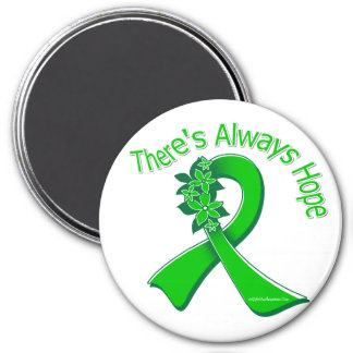 TBI There's Always Hope Floral 3 Inch Round Magnet