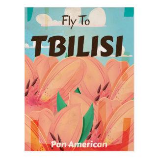 Tbilisi Georgia Vintage Travel Poster Postcard