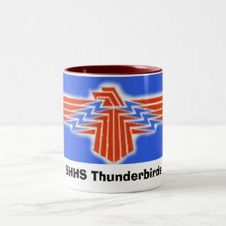 TBird, Thunderbirds de SHHS Taza De Café De Dos Colores