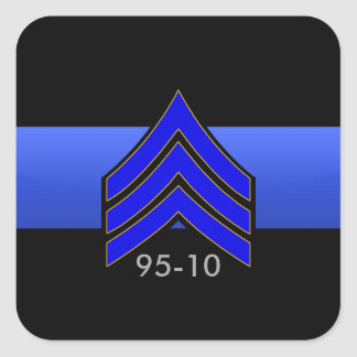 TBL Sgt RAYA la orden de encargo 95-10 Pegatina Cuadrada