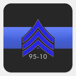 TBL Sgt STRIPES 95-10 Custom Order Square Sticker
