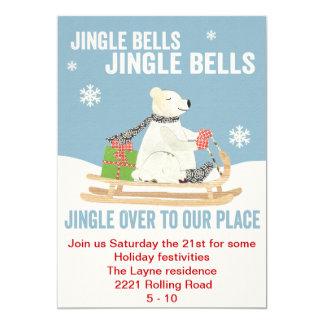 TBO- Jingle Bells Polar bear party invite