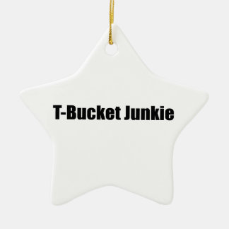Tbucket Junkie Tbucket Gifts By Gear4gearheads Double-Sided Star Ceramic Christmas Ornament