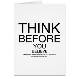 TBYB - Humanists White Greeting Card