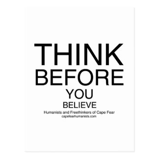 TBYB - Humanists White Postcard