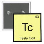 Tc - Camiseta divertida del símbolo del elemento d Pin
