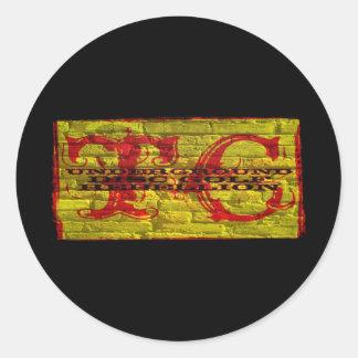TC DISC GOLF REBELLION CLASSIC ROUND STICKER