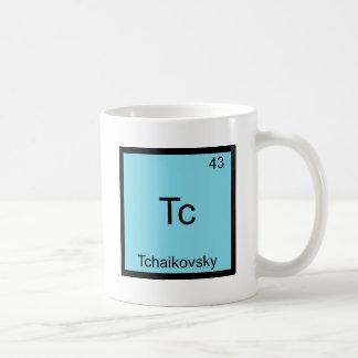 Tc - Símbolo divertido del elemento de la química  Tazas