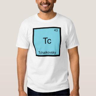 Tc - Tchaikovsky Funny Chemistry Element Symbol Shirt