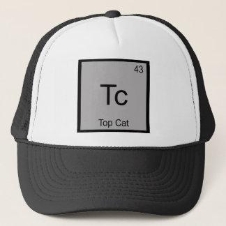 Tc - Top Cat Funny Chemistry Element Symbol Tee Trucker Hat