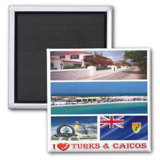 TC - Turks and Caicos Islands - I Love Magnet