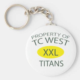 TC West XXL Basic Round Button Keychain
