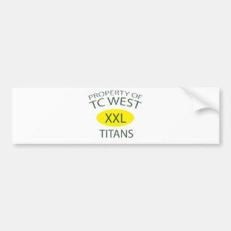 TC West XXL Bumper Sticker