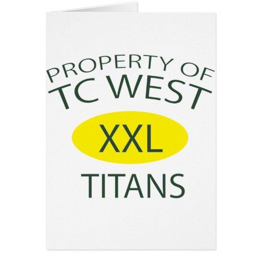TC West XXL Card