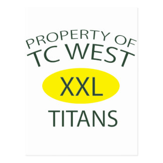 TC West XXL Postcard