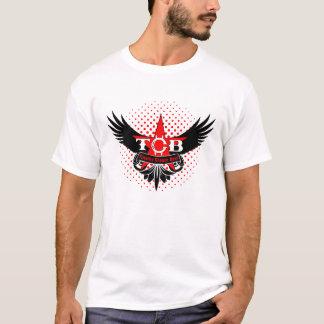 TCB - Blanco de la camiseta de las alas del TCB de