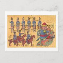 Tchaikovsky Nutcracker Soldiers Christmas Holiday Postcard