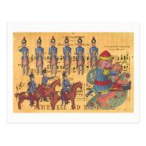 Tchaikovsky Nutcracker Soldiers Christmas Postcard