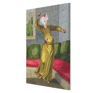 Tchingui, bailarín turco, siglo XVIII (grabado) Impresión En Lienzo