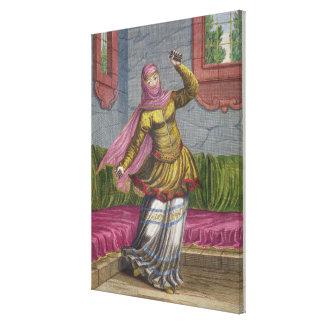 Tchinguis, o bailarín turco, siglo XVIII (engrav Impresión En Lienzo