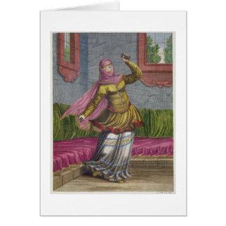Tchinguis, o bailarín turco, siglo XVIII (engrav Tarjeta De Felicitación