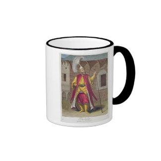 Tchorbadji, capitán de los janissaries, décimo taza de dos colores