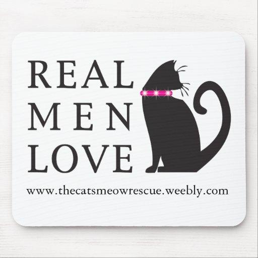 "TCMR ""gatos reales"" Mousepad del amor de los hombr Tapetes De Ratón"