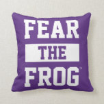 TCU Fear The Frog Pillow