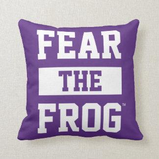TCU Fear The Frog Throw Pillow