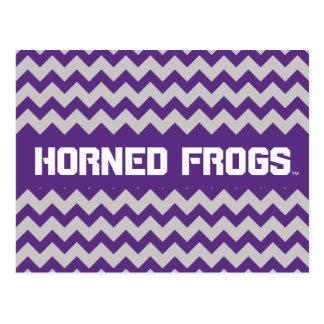 TCU Horned Frogs | Chevron Postcard