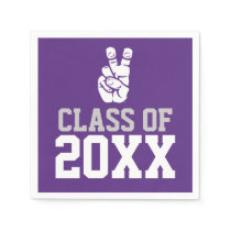 TCU Horned Frogs Hand Symbol | Class Of Paper Napkin