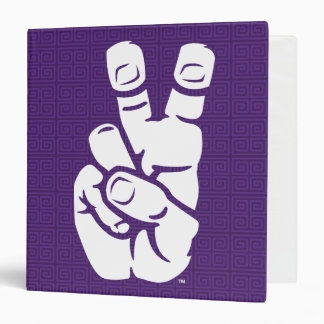 TCU Horned Frogs Hand Symbol | Greek Key Binder