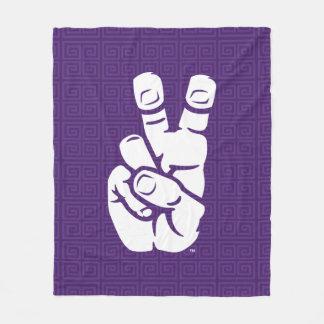 TCU Horned Frogs Hand Symbol | Greek Key Fleece Blanket