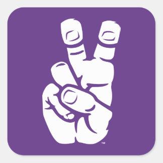 TCU Horned Frogs Hand Symbol Square Sticker