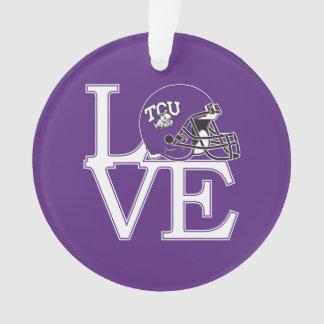 TCU Love Ornament