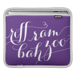 TCU Riff Ram Bah Zoo Script Sleeve For iPads