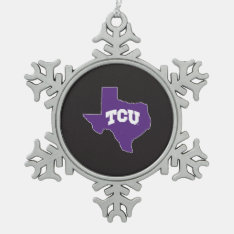 Tcu Texas State Snowflake Pewter Christmas Ornament at Zazzle