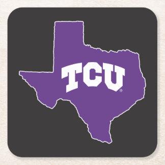 TCU Texas State Square Paper Coaster