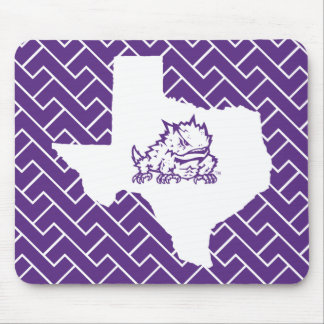TCU Texas State with Horned Frog   Fret Mouse Pad