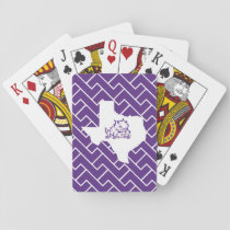 TCU Texas State with Horned Frog | Fret Playing Cards