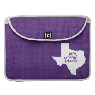 TCU Texas State with Horned Frog | Greek Key Sleeve For MacBooks