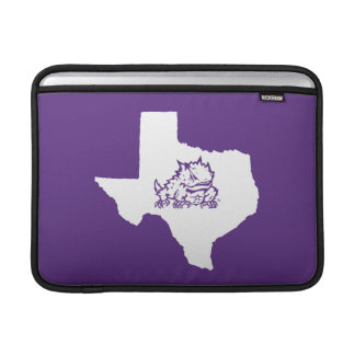 TCU Texas State with Horned Frog MacBook Sleeve