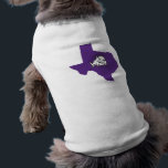 """TCU Texas State with Horned Frog Shirt<br><div class=""""desc"""">These Texas Christian University products make the perfect gift for the TCU fans,  faculty,  students,  and alumni. Celebrate your TCU pride in style with these customizable Horned Frogs gifts from Zazzle.</div>"""